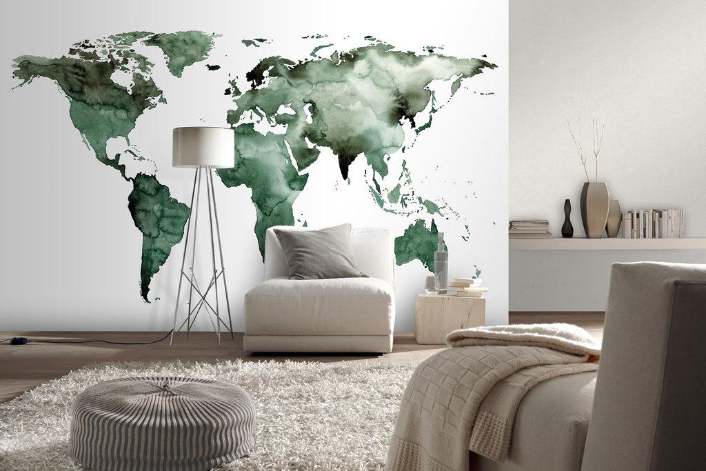 Süß Weltkarte Tapete Bilder Von Wohndesign Ideen